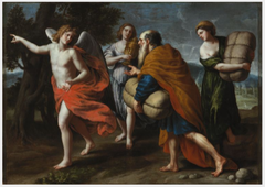 An Angel Leading Lot and his Daughters out of Sodom