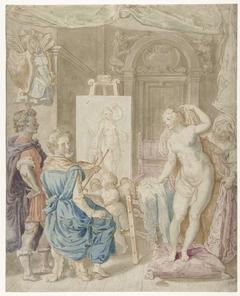 Apelles schildert Kampaspe