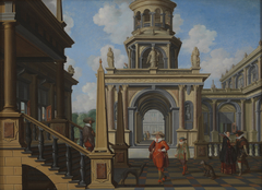 Architectural Scene: A Palace Court