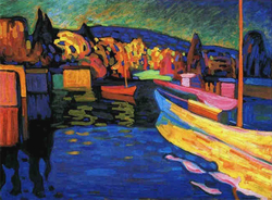 Autumn Landscape with Boats