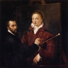 Bernardino Campi Painting Sofonisba Anguissola