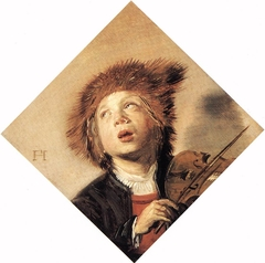 Boy playing a violin