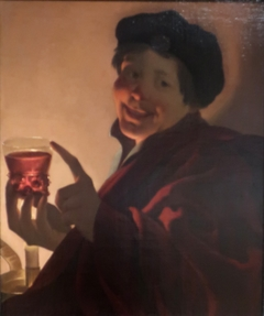 Boy with a Roemer of Wine by Candlelight