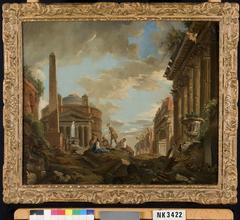 Capriccio met het Pantheon, de Boog van Titus en de basilica van Maxentius