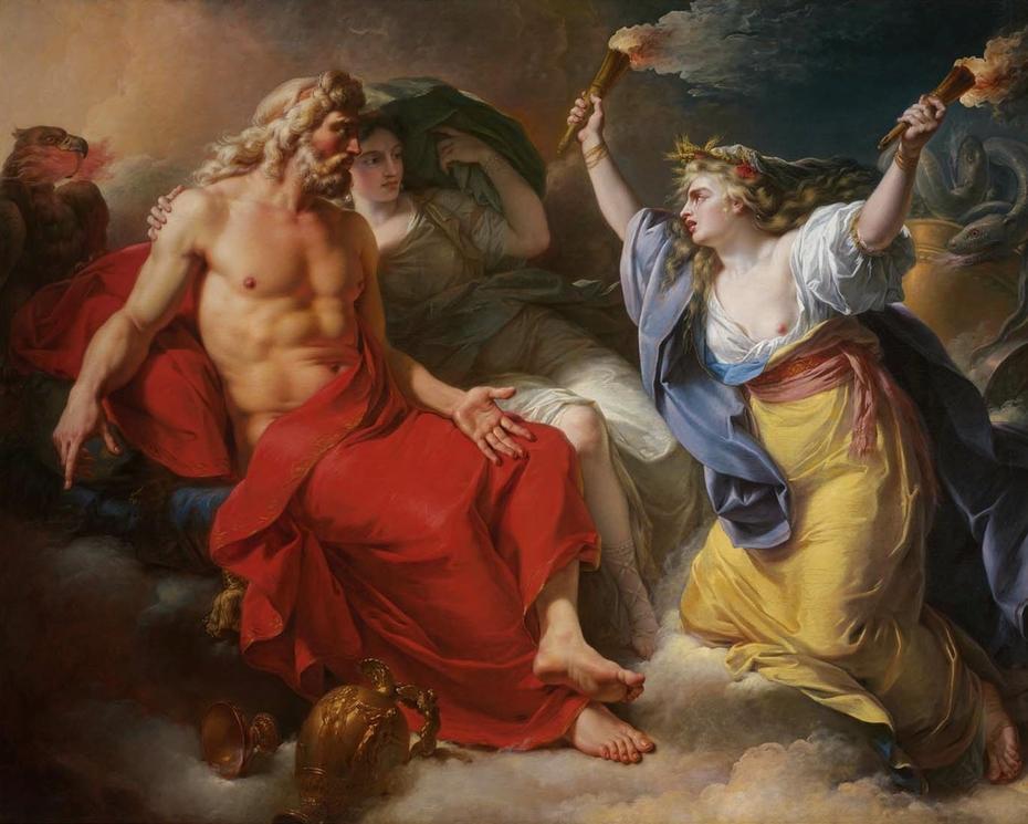 Ceres Begging for Jupiter's Thunderbolt after the Kidnapping of Her Daughter Proserpine