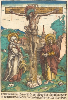 Christ on the Cross Between the Virgin and Saint John
