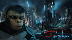 Cinematic 3D Character of Kung Fu Ape – sci-fi Cartoon feature film by Gameyan illustration design studio - Virginia, USA