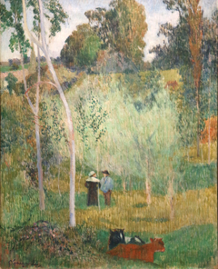 Conversation in the fields. Pont-Aven