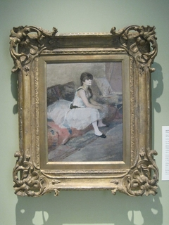 Dancer Seated on a Pink Divan