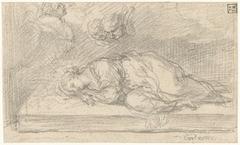 De heilige Cecilia in haar doodsslaap