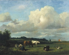 Dutch landscape with cattle