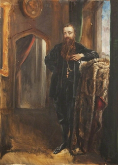 Edward Heneage Dering (1826-1892), standing in an interior at Baddesley Clinton
