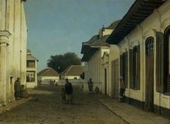Een straat in het oude deel van Batavia