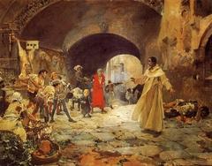 El padre Jofré defendiendo a un loco