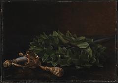 En kårde med laurbærkrans