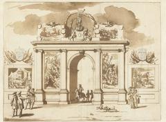 Ereboog voor Willem III, op de Plaats te 's-Gravenhage, 1691