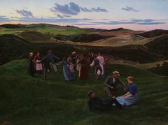 Evening Play in Svanninge Hills