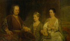 Family Portrait of Hermanus Boerhaave, Professor of Medicine at the University of Leiden, and his Wife Maria Drolenvaux and little Daughter Johanna Maria