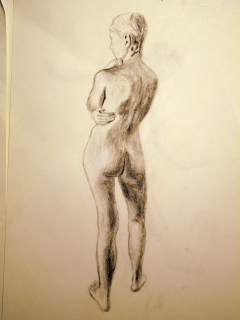 Figure drawing in charcoal #9