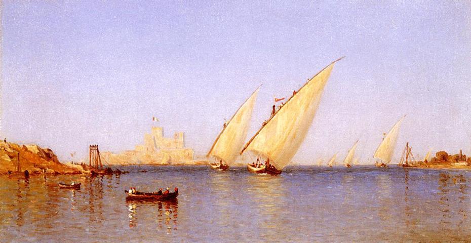 Fishinng Boats coming into Brindisi Harbor