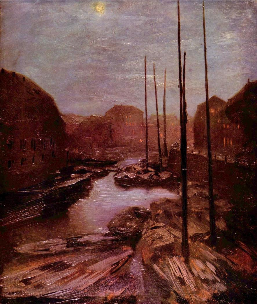 Friedrichsgracht by moonlight