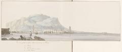 Gezicht op de grote haven en de zeevloot van Palermo