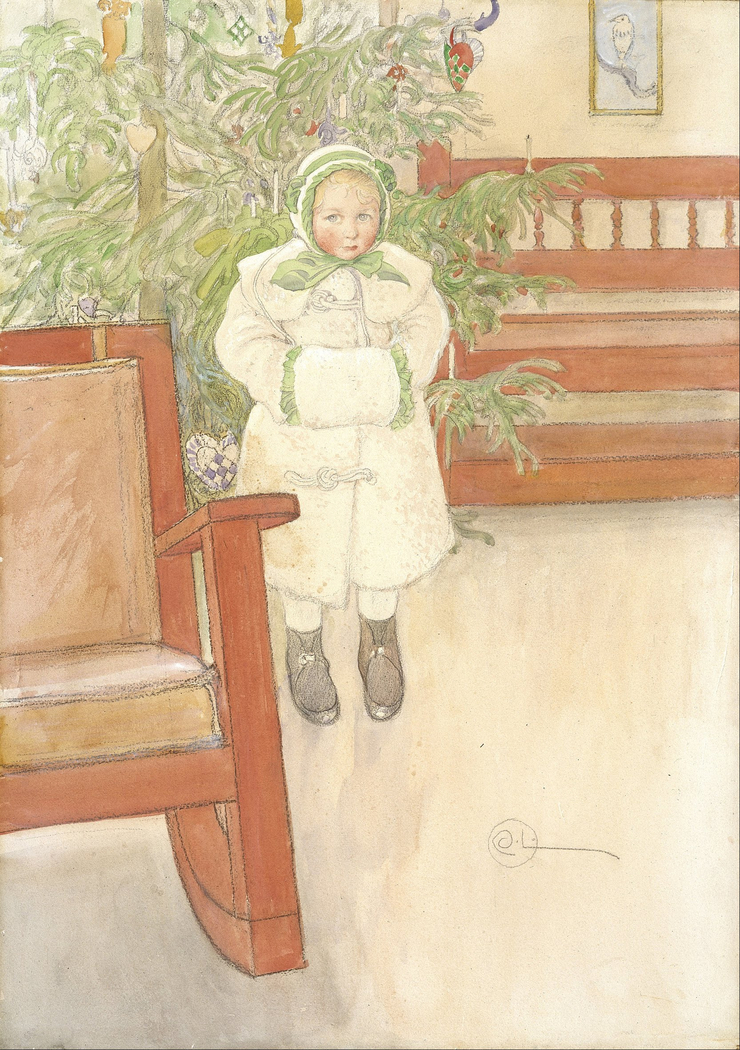 Girl and rocking chair