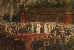 H. M. Queen Wilhelmina taking an oath