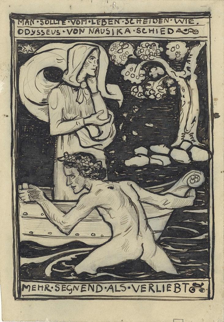 Het afscheid van Odysseus en Naussikaä