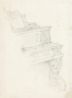 Hoekje van een klavier