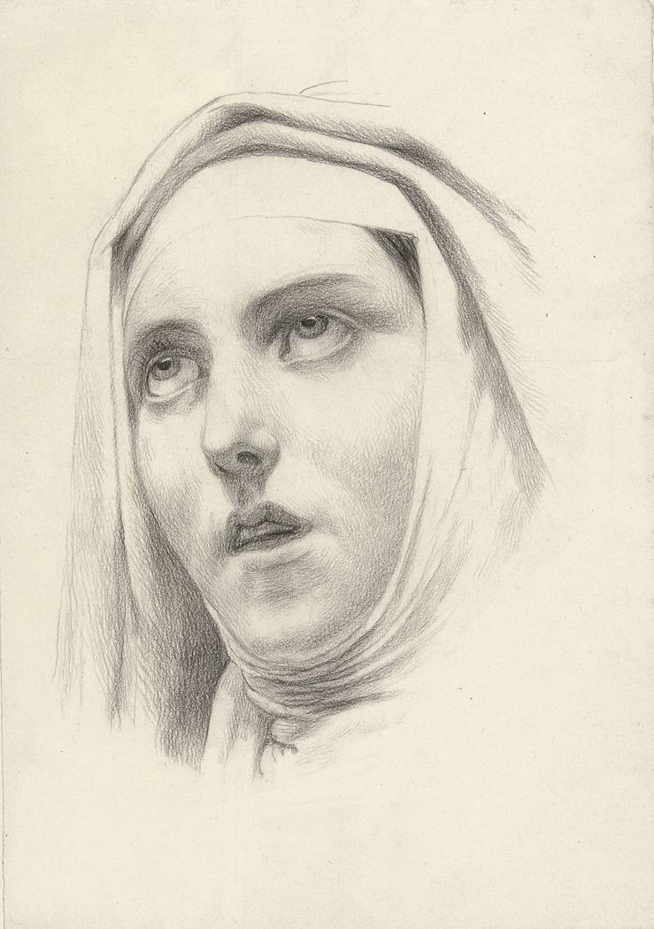 Hoofd van een non