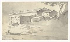 Huis in een zuidelijk landschap