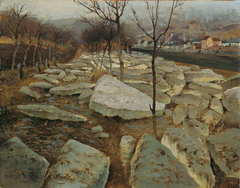 Ice Floes on the Banks of the Thaya