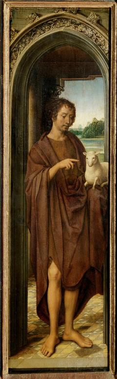 Innenflügel des Johannesaltärchen: Johannes der Täufer
