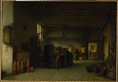 """Interieur van de suikerfabriek """"De Granaatappel"""""""