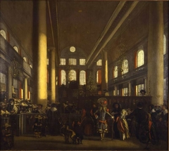 Interior of the Synagogue in Amsterdam
