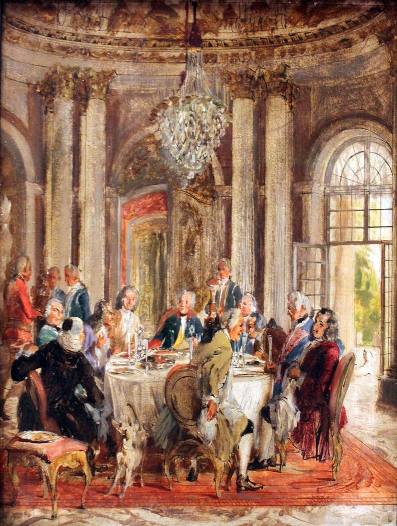 King Frederick II Tableround in Sanssouci