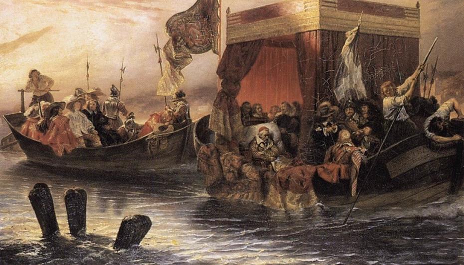 La barge du cardinal de Richelieu sur le Rhône