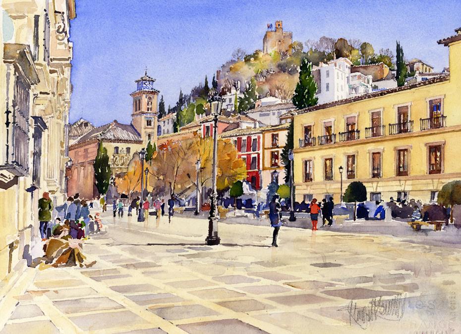 La plaza Nueva, Granada