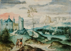 Landscape and Meeting on the Road to Emmaus