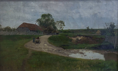 Landscape with a Cart. Study