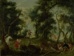 Landscape with Atalanta and Meleager Hunting the Calydonian Boar