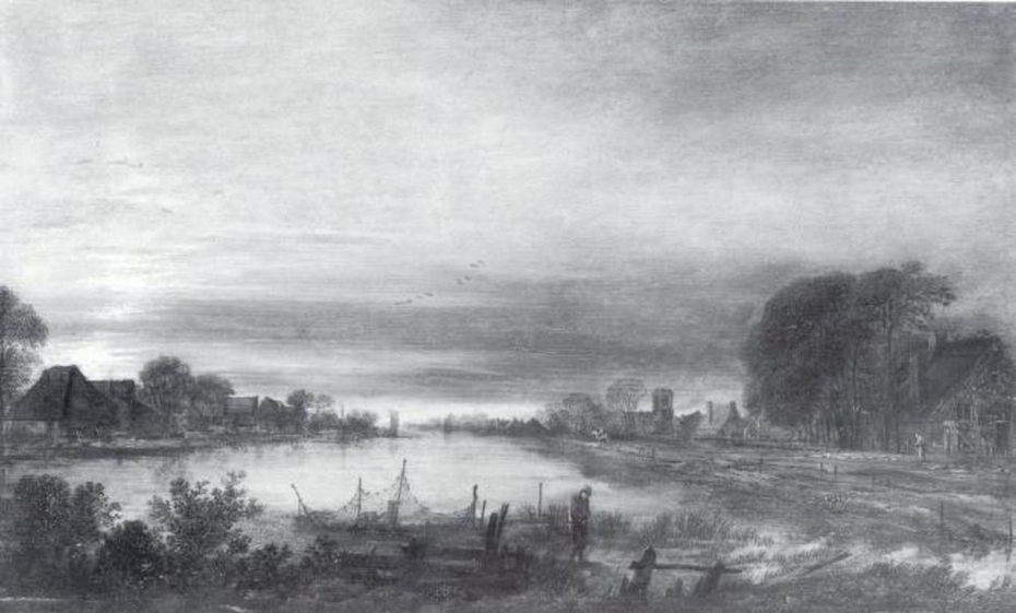 Landscape with Canal at Dusk