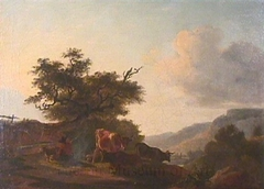 Landscape with Cattle and Farmer