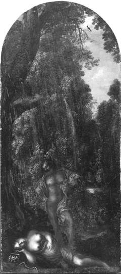 Landscape with Sleeping Woman