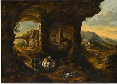 Landscape with Travellers in a Grotto