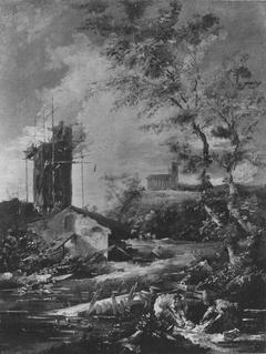 Landschaft mit unvollendetem Turm (Fälschung nach)