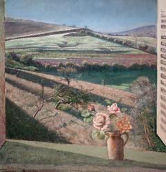 Le bouquet de roses sur la fenêtre (The bouquet of roses on the window)