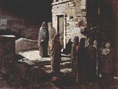 Le Départ du Christ avec ses disciples pour le jardin de Gethsémani