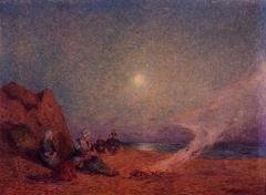 Le Pouldu, Women on the Beach beside a Fire